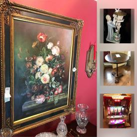 MaxSold Auction: This online auction features candles, books, TVs, PlayStation 2, DVDs, CDs, costume jewelry, luggage, light fixtures, holiday decor, decorative telescope, picture frames, bicycle, yard tools and much more.
