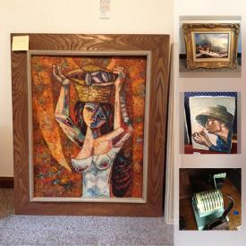 MaxSold Auction: This online auction features Galle vases; face jugs; Native American soapstone; bronze statues; cloisonne vases; Zippo lighter collection; Action figures; framed art; colored glass; Remington typewriter and much more!