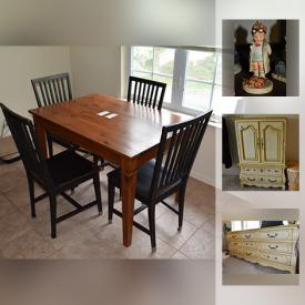MaxSold Auction: This online auction features Lladro, Hummels, kitchen table, Midea upright freezer, Confidence Whole Body Vibration, Glass Paned Windows, mink coat and much more!