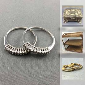 MaxSold Auction: This online auction features Heinrich dish set, vintage watches, 10K gold necklace, rings and earrings, sport rack, miniature gilded tea set, rock n roll LPs and much more.