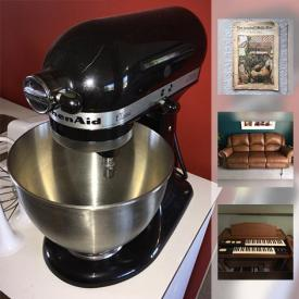 MaxSold Auction: This online auction features a Ludwig drum set and a Hammond organ. Vintage, leather and teak furniture. Golf and more sporting equipment. Antique LA newspapers and desk. KitchenAid stand mixer and accessories. and much more!