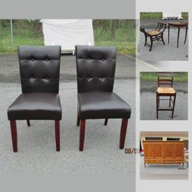 MaxSold Auction: This online auction features furniture such as leatherette reclining chair with ottoman, twin sofa bed, brass and glass coffee table, Bombay Co. chairs, and Clayton Marcus sofa, art such as C. M. Russell prints, wall scrolls, and metal wall decor, cleaning gear such as Bissell carpet cleaner, Kirby vacuum, and Kirby carpet shampooing system, collectibles such as Noritake china, vintage crystal, and Tracy Porter teapots, electronics such as Bose sound dock, and Sylvania portable DVD player, Kin Chi bronze table lamp, cookware, books, kitchenware, games, and much more!