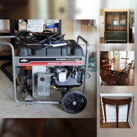 MaxSold Auction: This online auction features Ethan Allen furniture, wall art, cameras, faux plants, sports cards, flatware, guitars, golf clubs, books, CDs, VHS tapes, power tools, ladders, cleaning supplies, bicycle, and much more!