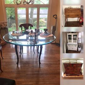 MaxSold Auction: This online auction features lamps, wall art, books, glassware, CDs, smart TV, vases, flat screen TV, office chair, ladder, planters, tools, shelving, holiday decor, grill, wheelbarrow and much more.