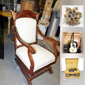 MaxSold Auction: This online auction features Collectibles. Art. Memorabilia. Furniture. Tools. Sterling Silver. Antiques. Sporting Equipment. Fine China. Vintage Electronics. Musical instruments and much more!