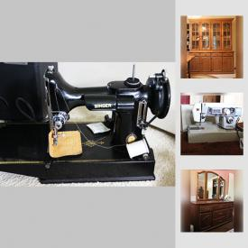 MaxSold Auction: This online auction features furniture such as oak dining table, oak dining chairs, Shermag oak dresser, and oak night stands, collectibles such as LPs, vintage tins, silverplate, crystal, and fine china, electronics such as Accusound speakers, USB turntable, Kobo ereaders, and Philips DVD player, Singer sewing machine, Campbell golf clubs, model trains, small kitchen appliances, dishware, cleaning supplies, books, garden decor, power tools, ceramic tiles, metal shelving, and much more!