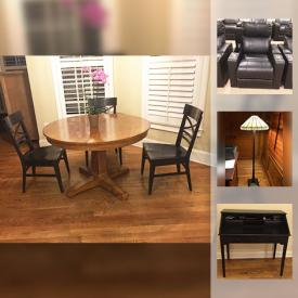 MaxSold Auction: This online auction features FURNITURE: Sectional sofa, kitchen table and chairs, tv console, rugs, executive desk. Basketball hoop, Foosball table, theatre seats and more!