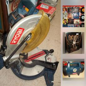 MaxSold Auction: This online auction features Ryobi Miter Saw, Ryobi Compressor, Coca Cola Print, Duo SportPak car top carrier, Dresser, 45s, Elvis Presley LPs, Ice Dogs Jersey and much more!
