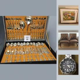 MaxSold Auction: This online auction features Seiko Divers Watch, NHL Rod Hockey Game, pottery, Group of Seven Prints, Scarface Movie Hardboard Mounted Poster, Villeroy and Boch China Collection, Golf Simulator, Jupiter Electro Acupuncture Device, Plugin Lighting Control And Security System, HP Photos art 100 Photo Direct Inkjet Printer and much more!