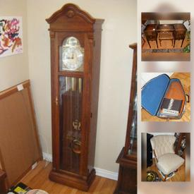 MaxSold Auction: This online auction features Plant Stand, Kenmore sewing machine, golf clubs, Wood vanity, Autoharp, Kierstead Collector Plates, Curio Cabinet, and much more!