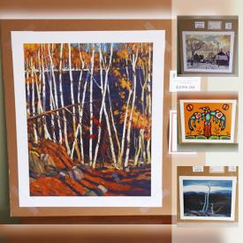 MaxSold Auction: This online auction features Tom Thomson IN THE NORTHLAND print with COA, Franklin Carmichael FROOD LAKE print with COA, Lawren Harris NORTHERN FOREST print with COA, Norval Morrisseau limited edition print ANIMAL SPIRITS with COA, Don Chase framed limited edition print NATIVE CELEBRATION with COA, and much more!
