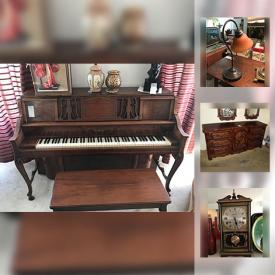 MaxSold Auction: This online auction features skates, wall art, piano, lamps, records, golf clubs, typewriter, vintage radios, office supplies, holiday decor, paintings, figurines, dolls, sewing machine, stemware and much more.