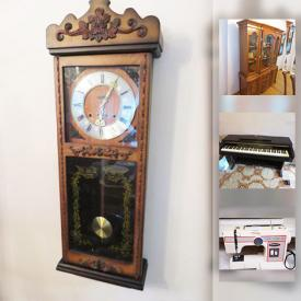 MaxSold Auction: This online auction features Clarinova Organ, Esgrad Clock, Dining Set, Dinnerware and Glasses, Cookware, Sofa and Chair Set, Crystal Decanter, Humidifier, Nexus walker, Fridge, Freezer, Sewing Machine and much more!