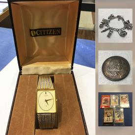 MaxSold Auction: This online auction features jewelry such as sterling silver, custom jewelry, and Wedgwood pendant, and agate bangle, collectibles such as sports cards, Canadian currency, American currency, Chinese currency, and fantasy coins, postage stamp collection, sterling silver flatware, antique Chinese scrolls and much more!