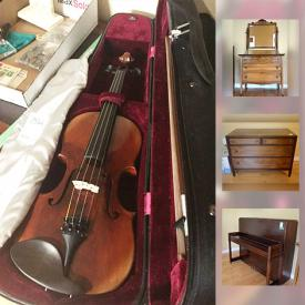 MaxSold Auction: This online auction features Decor, Art, Baby Items, Furniture, Assorted kitchen items, Collectibles, China wares, Infrared heater and fan, Dehumidifier, Book case and Books, Sewing machine, Glass, Toddler bed and linen, Gas Lawn Mower and much more.