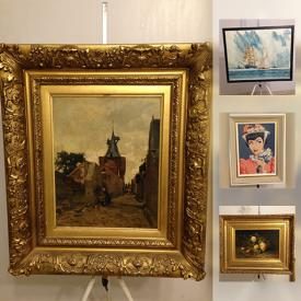 MaxSold Auction: This online auction features antique Dutch painting, Mary Pavey signed oil on canvas, Frank Brangwyn etching, Chinese brush painting, Ken Deeley watercolour, Belleek porcelain, Moorcroft vases, oriental figurines, track lighting, vintage stamps and much more!