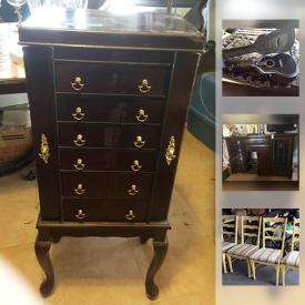 MaxSold Auction: This online auction features Antique Side Table, Wood Chest, Vintage Singer Sewing Machine Pitcher and Basin, Hats, Stemware, Oil Lamps, Books, Art, Epiphone Guitar, Yamaha Keyboard, Rugs, BBQ and much more!
