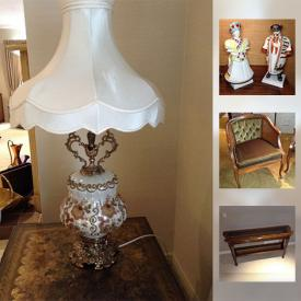 MaxSold Auction: This online auction features Walnut Display Cabinet, Ethan Allen MidCentury Style Sofa and Chair, Sofa Religious Artwork, Bedroom Furniture, Lamps, Linens, Sentry Safe, Kitchenware, Small Appliances, Games, Home Decor, Barware and much more!