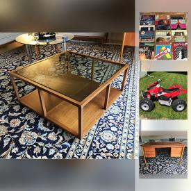 MaxSold Auction: This online auction features outdoor furniture, vinyl records, backpacks, dog costumes, stuffies, Duplo toys, car roof rack, children's shoes, glassware and much more.