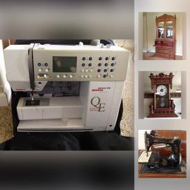 MaxSold Auction: This online auction features Antique Wood Cabinet, Antique Carved Table With marble top, Marble Column Pedestal, Antique Seth Thomas Mantle Clock, Antique mirror, Antique Hand painted Lamp, Fiesta Ware, Antique Singer Sewing Machine and much more!
