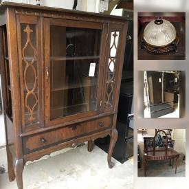 MaxSold Auction: This online auction features furniture, Humidifier, Light Fixtures, electronics, O.P.I. Polishes, Professional Metal Mani Pedi Trolley, Printer Machine, decors, China, glassware, Custom Made Boxed Wedding Gown, Keurig Machine, appliances, collectibles and much more.