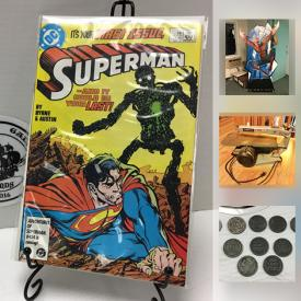 MaxSold Auction: This online auction features comics, sports and non sports cards, vintage toys, pop culture collectibles, wood shop tools, coins, stamps, vintage games and puzzles and much more!