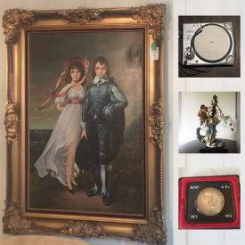 MaxSold Auction: This online auction features antique Italian porcelain statue, antique painting, Canadian silver coin, Byzantine gold coin, antique brass, Hankook tires, silver plate items and much more!