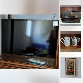 MaxSold Auction: This online auction features vintage tools, wall art, books, mini fridge, air compressor, glassware, candle holders, china, flat screen TV, DVDs, CDs, cassettes, quilts and much more!
