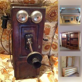 MaxSold Auction: This online auction features cast iron fireplace, chests, Elna sewing machine, vintage furniture, electric cash register, clocks, small kitchen appliances, kitchen items, dvds, art, barbie in box, Victorian style vase, Coca-Cola cooler, furniture and much more!