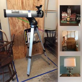 MaxSold Auction: This online auction features football cards, shelving, stereos, books, games, model lighthouses, wall art, glassware, figurines, CDs, DVDs, gaming consoles, coins, telescope, snowblower, tools and much more.