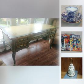 MaxSold Auction: This online auction features tools like a Craftsman saw, and a chain saw. Collectibles such as Archie comics and tea cup sets. A painted ladies desk and Victorian couch. And more!