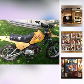 MaxSold Auction: This online auction features Marvel Comics, Green Arrow Mini Series, Hockey Cards, 1999 2000 Canada Post millennium stamp and coin set, Baja Motorsports 50 cc dirt bike, Two camera bags, one Henrys and one Blacks, with assorted camera equipment. A Canon EOS Rebel SLR, ColecoVision game console with ADAM expansion pack, Set of 3 mini samurai swords with display stand, Toys and games including 27in tabletop billiards, BNIB Air Hogs Atmosphere Axis, Battleship Live, Crocodile Dentist, Scrabble Junior, Simon Flash, Kerplunk and much more.