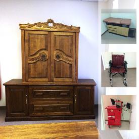 MaxSold Auction: This online auction features oxygen tanks, bookcases, TVs, printer, patient exam beds, hampers, wheelchairs, scales, masks and much more.