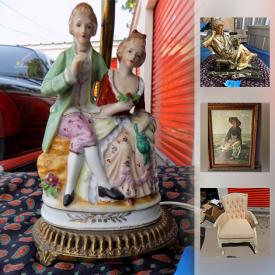 MaxSold Auction: This online auction features FURNITURE: Vintage chairs. DECOR: Mirrors and lamps. ART: Framed oils, prints and posters. SILVERPLATE: Pitchers and serving pieces. FURS: White mink jacket and much more!