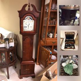MaxSold Auction: This online auction features luggage, TVs, dishes, figures, crystal, Precious Moments, holiday decor, costume jewelry, wall art, glassware, CDs, DVDs, LPs, VHS tapes, lamps and much more.
