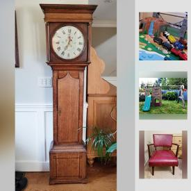 MaxSold Auction: This online auction features a children's train table, keyboard, bicycles, grandfather clocks, cameras, wall art, pool table, croquet set, collectibles, tools, child's play set, outdoor furniture and much more.
