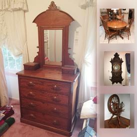 MaxSold Auction: This online auction features picture frames, rugs, lamps, books, pin collection, pottery, glassware, vacuums, costume jewelry, grandfather clock, grill, planters, outdoor furniture, yard tools, tents, vintage sleds, holiday decor, ladders and much more.