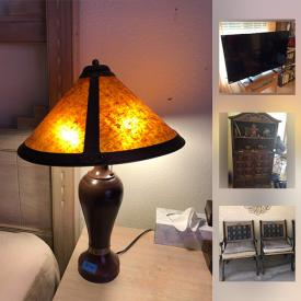 MaxSold Auction: This online auction features outdoor furniture, planters, yard tools, holiday decor, glassware, TVs, board games, books, records, bookshelves, costume jewelry, stereo, sewing machine, lawn mower and much more.