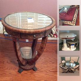 MaxSold Auction: This online auction features furniture, home decor, safes, electronics, a mini trampoline, glassware, electric heaters, books, luggage and much more!