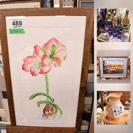 MaxSold Auction: This online auction features holiday decor, glassware, shelving, tools, wall art, dolls, lamps, books, model train tracks, VHS tapes, bookcases, comics, board games, stuffed animals, stage lighting and much more.