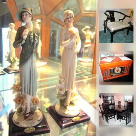 MaxSold Auction: This online auction features a metal detector, wall art, exercise bike, DVDs, wall mounted TV, glassware, CDs, faux plants, figurines, books, outdoor decor, bookshelves, sound system, crystal and much more.