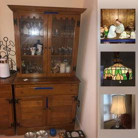 MaxSold Auction: This online auction features lamps, bed frames, holiday decor, books, shelving, CDs, glassware, vacuums, luggage, cleaning supplies, costume jewelry, purses and much more.