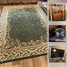 MaxSold Auction: This online auction features Carpets, Currency, Wolfgang Puck electric grill, Wii Fit, Blu Ray Disc, Yamaha Receiver, Electric Lawnmower, Makita Power Tools, Bosch Disc Sander, Table Saw, Fluke Multimeter, Felix leather armchair and much more!