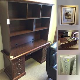 MaxSold Auction: This online auction features office furniture, decor, artwork, filing cabinets and much more.