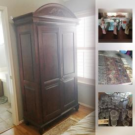 MaxSold Auction: This online auction features collectibles such as crystalware, sterling silver, and Lladro figurines, furniture such as Ethan Allen armoire, Ethan Allen cabinet, and small lap desk, silver jewelry, linens, pottery, office supplies, home decor and much more!