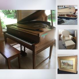 MaxSold Auction: This online auction features toys, Barbies, dollhouse furniture, costume jewelry, glassware, sterling silver, china, flat screen TV, wall art, clocks, cameras, dehumidifiers, shelving, stepladders, violin, DVDs, books and much more!