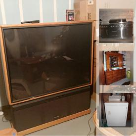 """MaxSold Auction: This online auction features items such as a Dyson Total Clean vacuum cleaner, fishing rods and gear, a Master Forge grill, a 46"""" Toshiba television, Keurig machines and much more!"""