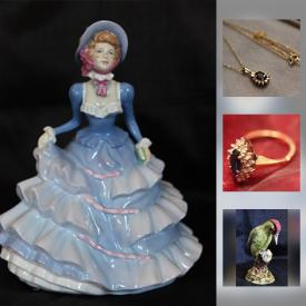 MaxSold Auction: This online auction features Royal Doulton Figurines, Secuquick Cookware, Original art signed IA Miller, Franciscan China, Large collection of pins, earrings, necklace, Converted Upright Piano, Vintage Singer Sewing Machine In Cabinet and much more.
