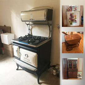 MaxSold Auction: This online auction features wall art, glassware, TV, lamps, washing machine, telescope, shelving, holiday decor, cameras, sports equipment, exercise equipment, treadmill, luggage, coolers and much more.