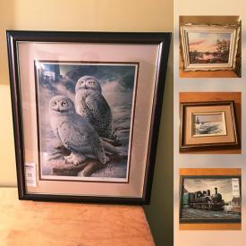 MaxSold Auction: This online auction features Canadian and European Artist such as T. Laaksoren, Ron Thurston, Raymond Watson, F. Crouch; antique Corot print; Hoselton sculptures and much more!